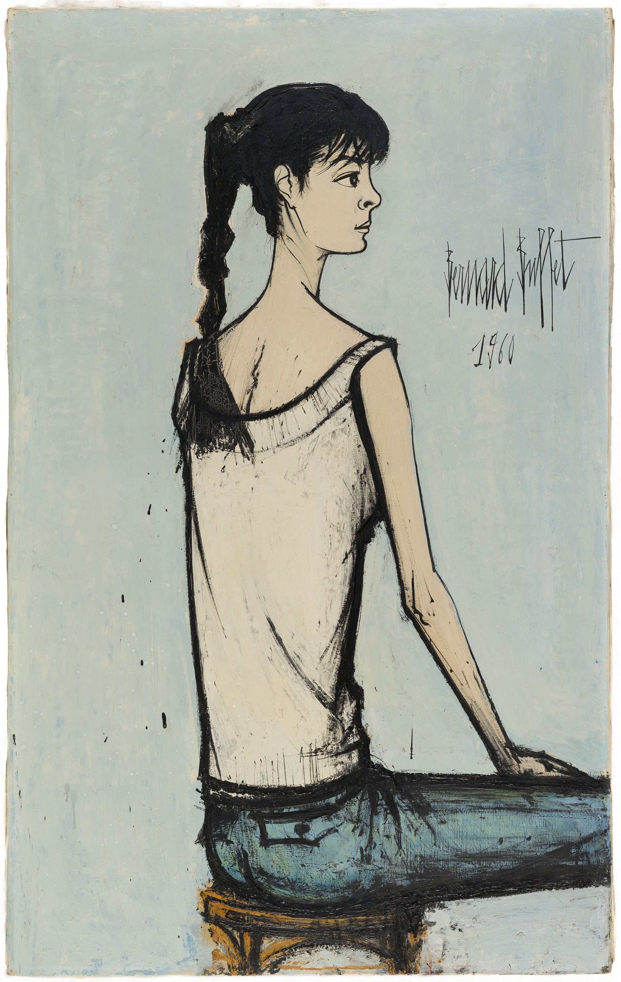Annabel à la natte, 1960 130 x 81 cm, huile sur toile Musée d'Art moderne de la Ville de Paris