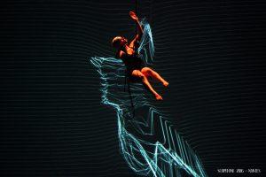 La danseuse Elena Annovi lors de la soirée d'ouverture du festival Scopitone
