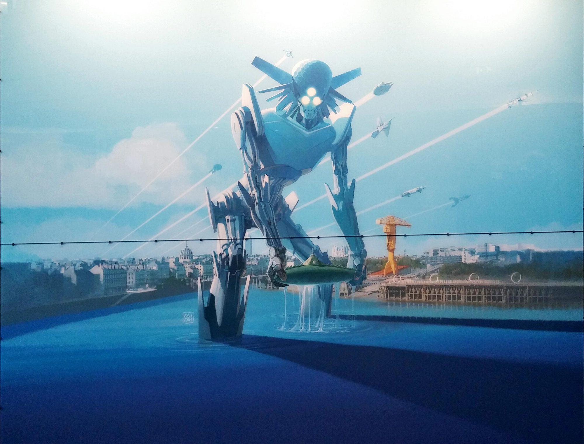 Affiche des Utopiales déssinée par Denis Bajram