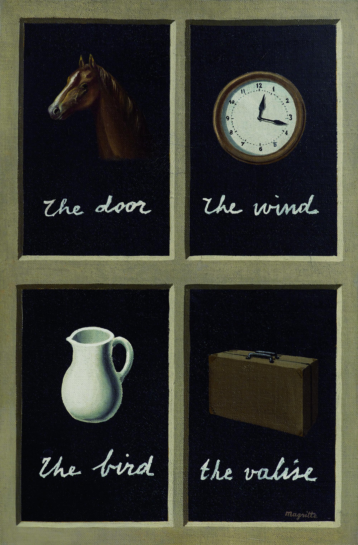 René Magritte, La clef des songes, 1935 Huile sur toile, 41 x 27 cm Collection Jasper Johns © Adagp, Paris 2016