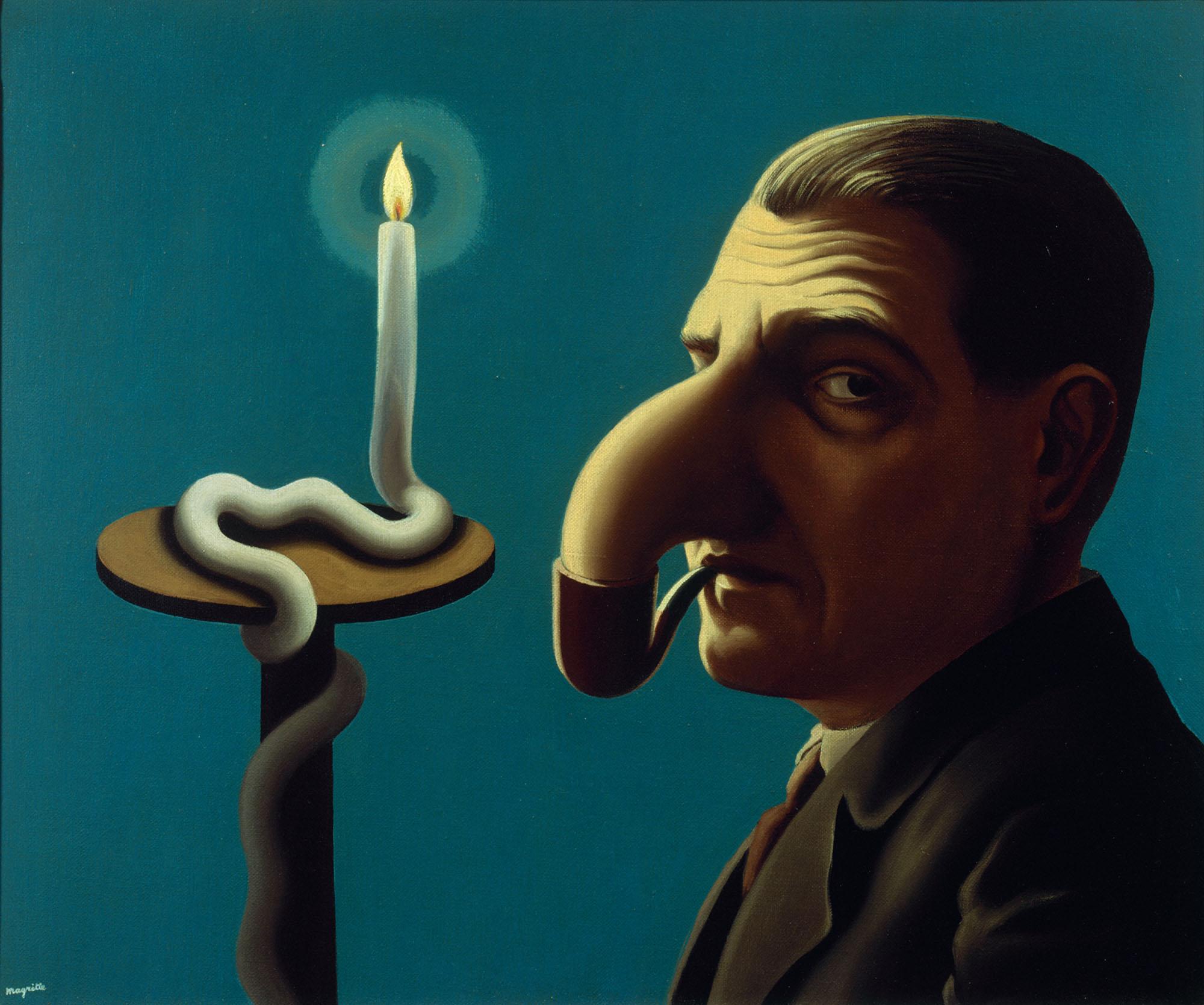 René Magritte, La lampe philosophique, 1936